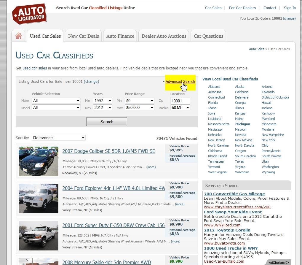 how to utilize online car search engines. Black Bedroom Furniture Sets. Home Design Ideas
