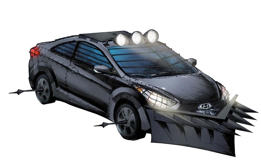 The Zombie Stopping Hyundai Car